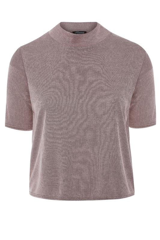 LIMITED COLLECTION Blush Pink Ribbed High Neck Top