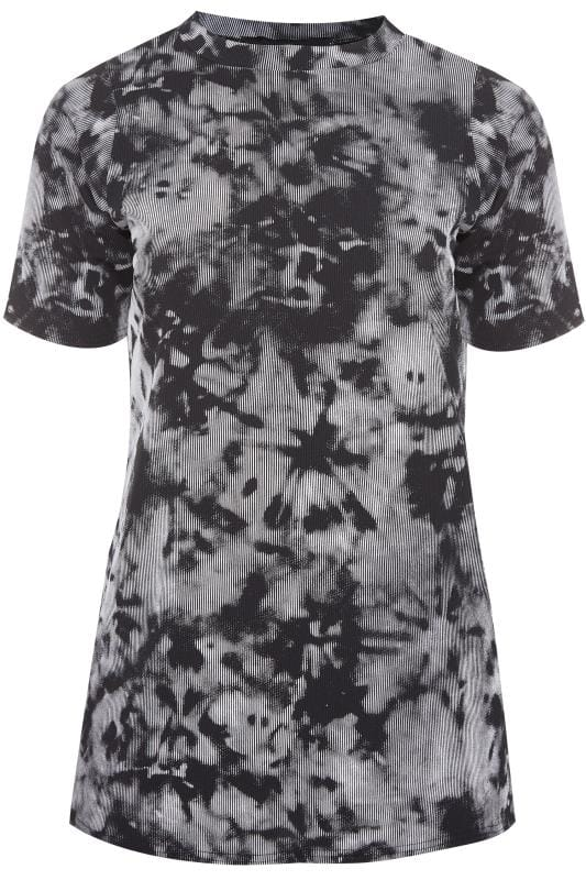 LIMITED COLLECTION Black Tie Dye Ribbed Top