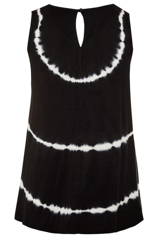 Black Tie Dye Vest Top