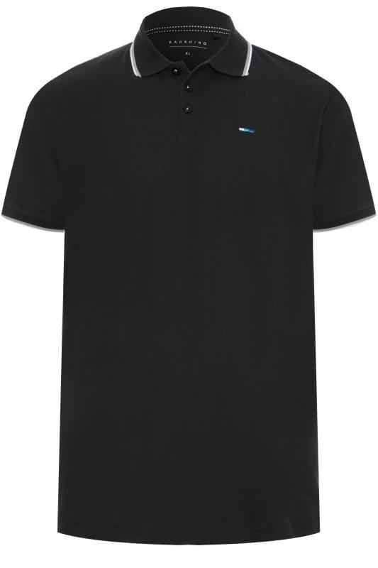 BadRhino Black Tipped Polo Shirt
