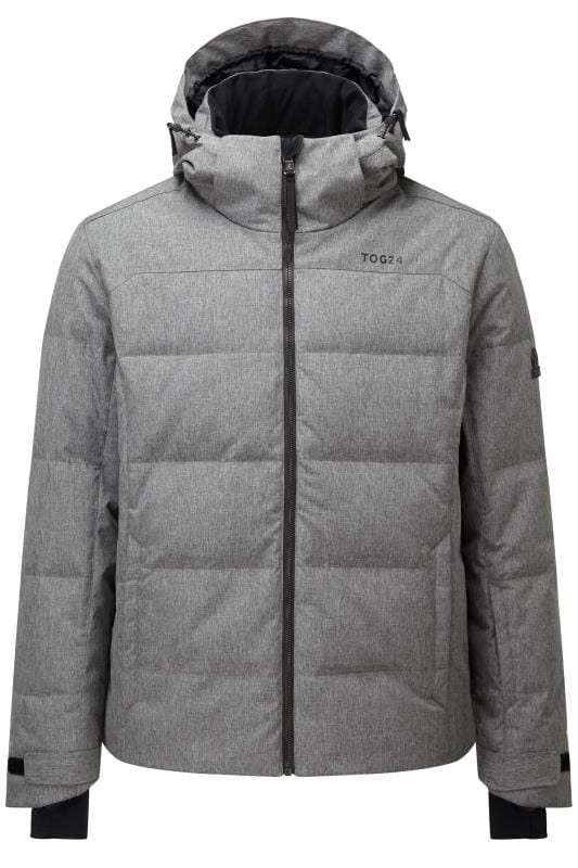 Plus-Größen Jackets TOG24 Grey Marl Down Quilted Ski Jacket