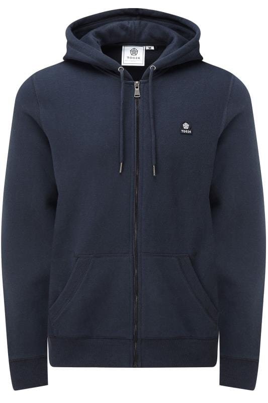 Plus-Größen Hoodies TOG24 Navy Zip Through Hoodie