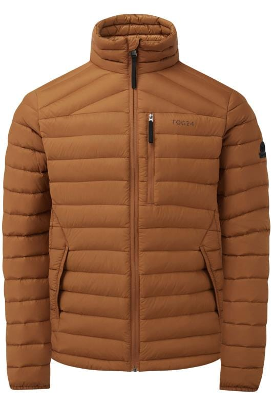 TOG24 Brown Funnel Down Jacket