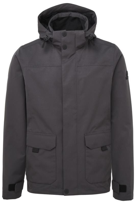 Plus-Größen Jackets TOG24 Grey Waterproof Jacket