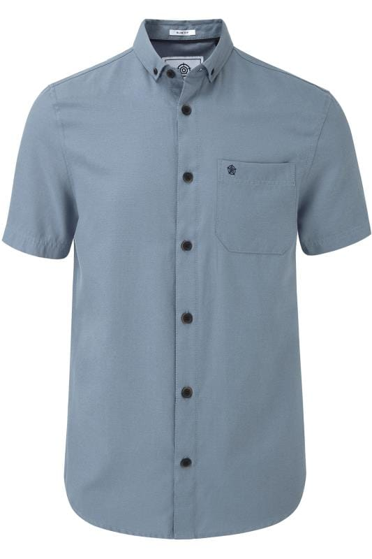 Plus Size Casual Shirts TOG24 Blue Shirt