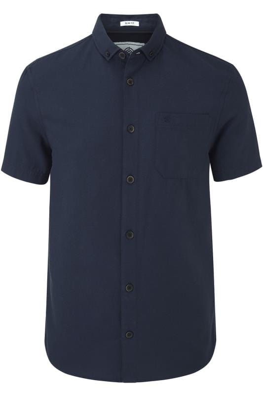 Plus-Größen Casual Shirts TOG24 Navy Shirt