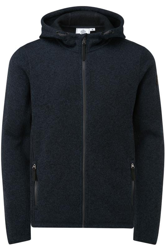 Plus Size Fleece TOG24 Navy Marl Hooded Fleece
