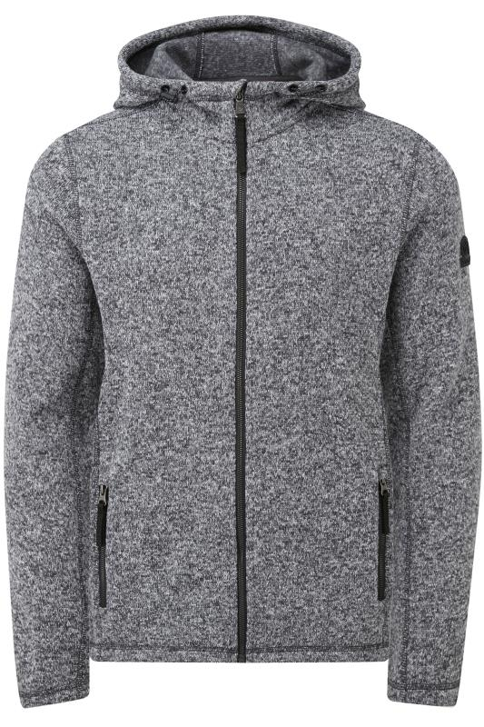 Plus Size Fleece TOG24 Grey Marl Hooded Fleece