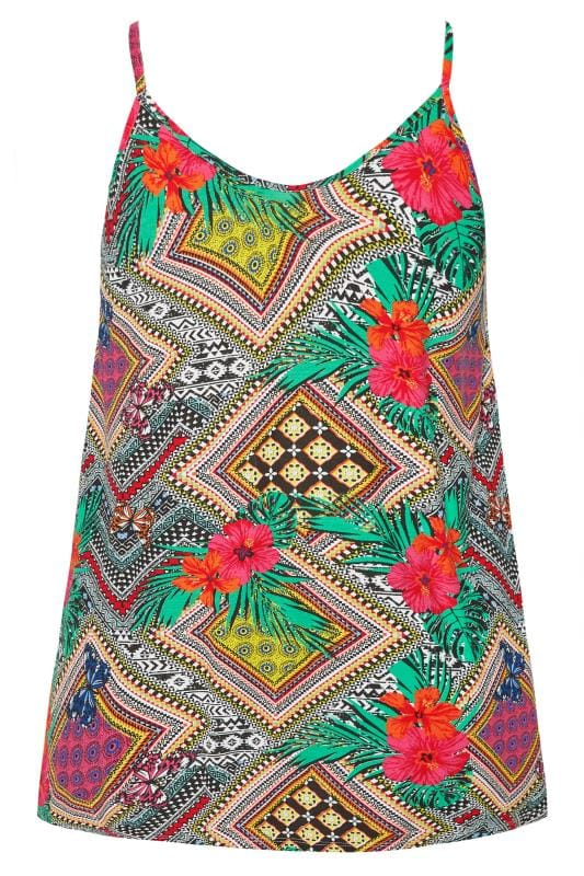 Tropical Geometric Swing Vest