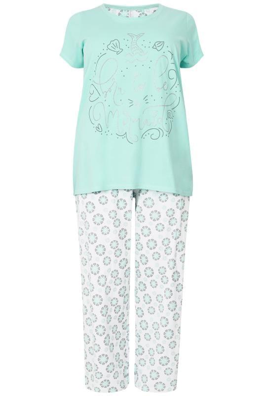 Turquoise 'Born To Be A Mermaid' Pyjama Set