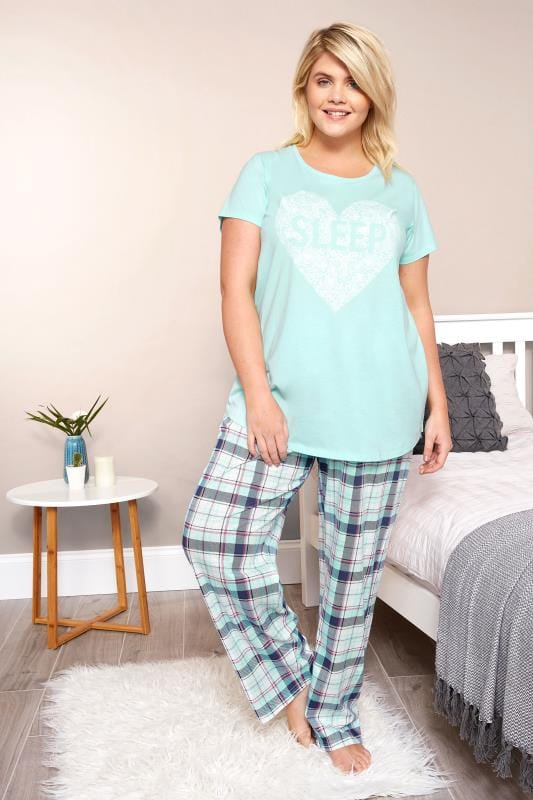 Turquoise Heart Pyjama Top