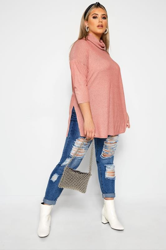LIMITED COLLECTION Pink Turtle Neck Top