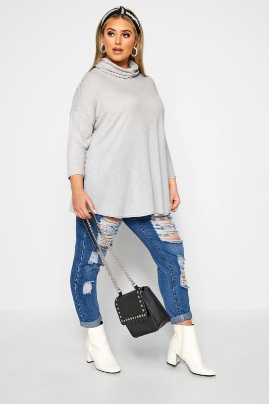 LIMITED COLLECTION Grey Turtle Neck Top