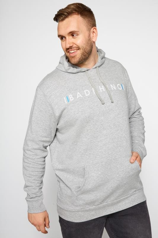 Hoodies BadRhino Grey Logo Branded Hoodie 201117