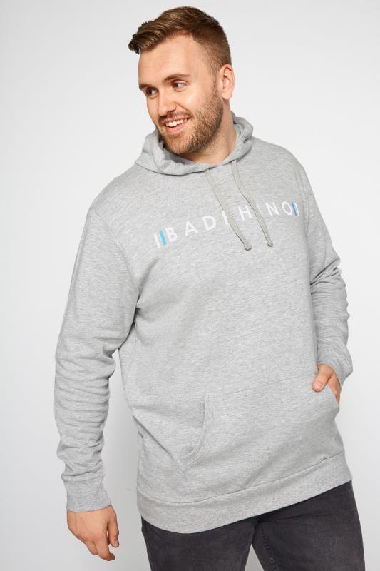 BadRhino Grey Logo Branded Hoodie