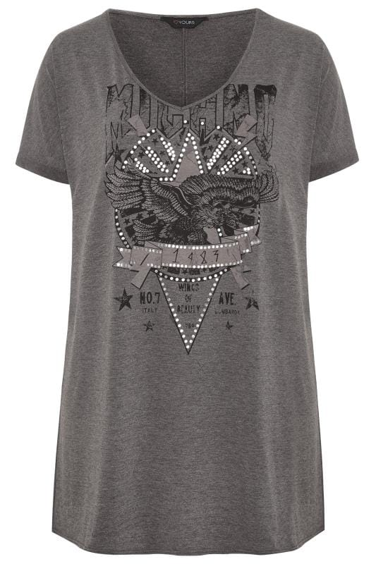 Grey Foil Rock Print Dress
