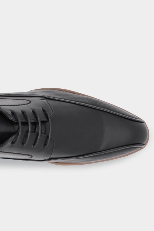 D555 Black Formal Derby Shoe