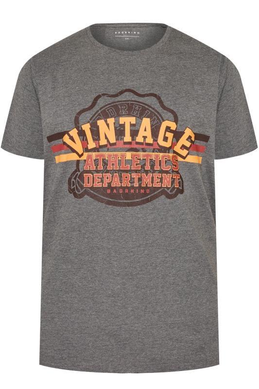 BadRhino Grey 'Vintage' T-Shirt