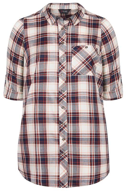 Burgundy Check Boyfriend Shirt
