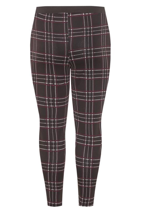 Black & Wine Red Check Trousers