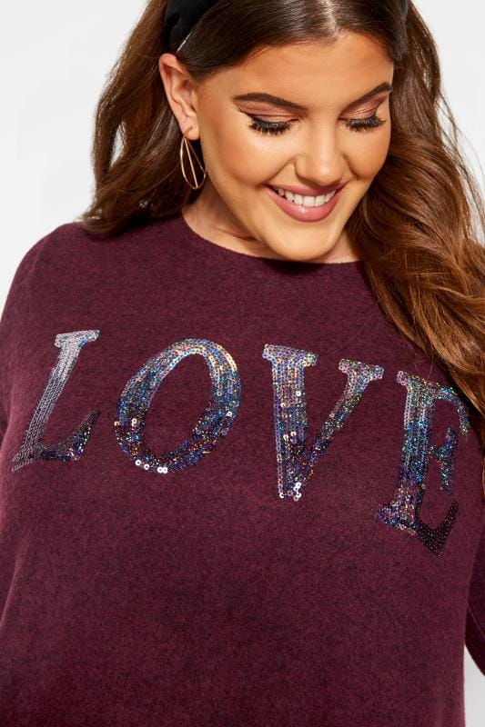 Dark Purple Sequin Double Layered Knitted Top