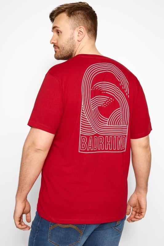BadRhino Red Graphic Wave T-Shirt