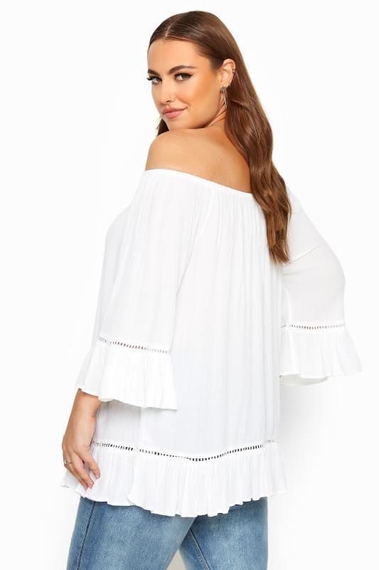 White Bardot Gypsy Top