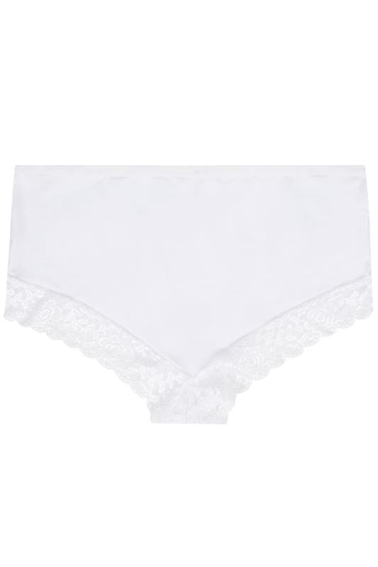 White Lace Trim Briefs