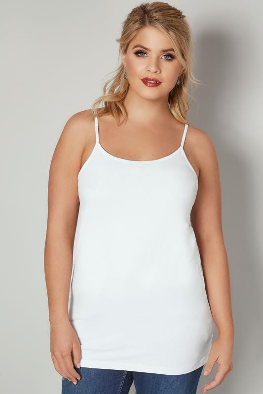White Cami Vest Top