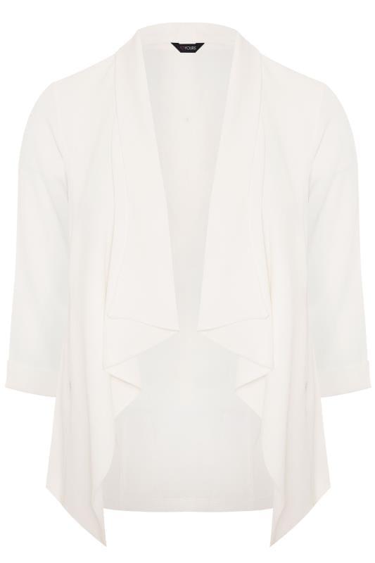 White Crepe Waterfall Jacket