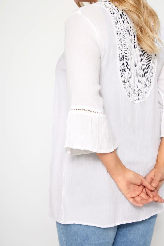 White Crochet Kimono