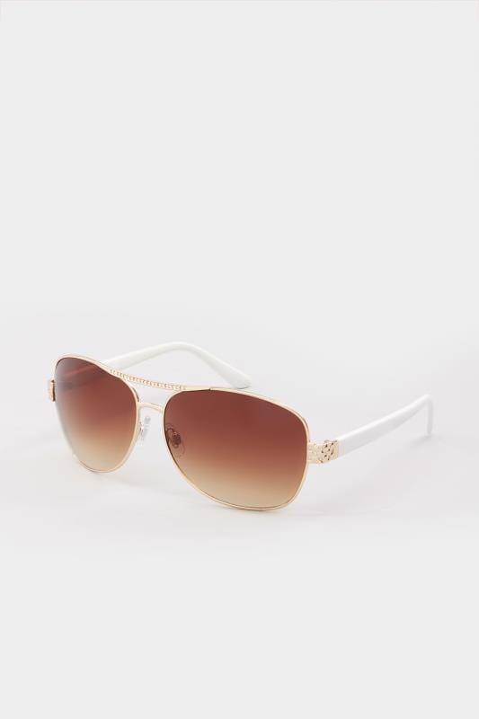 Gafas de sol blancas aviador