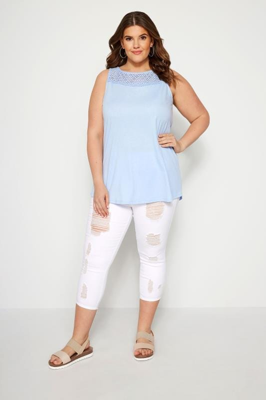 White Extreme Distressed Cropped JENNY Jeggings