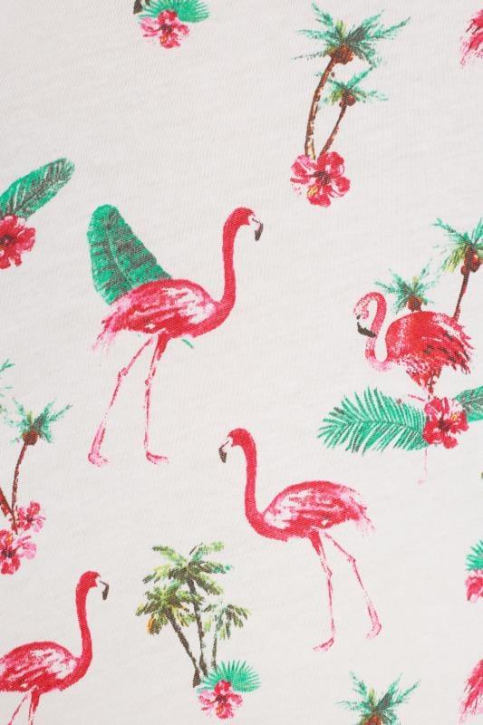 White Flamingo Cold Shoulder Top
