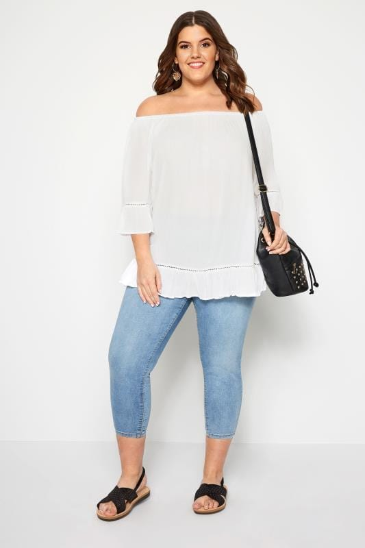 White Gypsy Bardot Top
