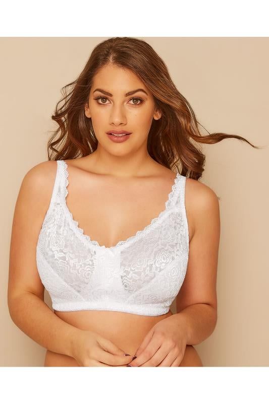 White Hi Shine Lace Non-Wired Bra
