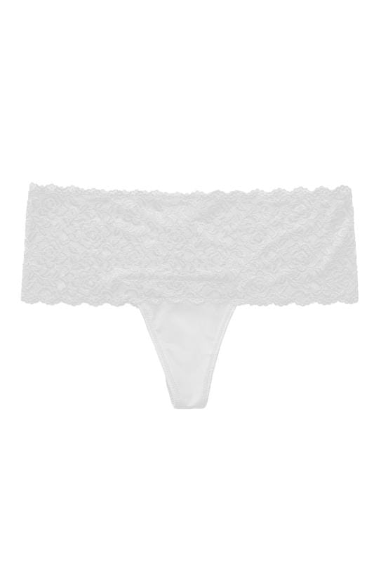 Plus Size Briefs & Knickers White Lace Brazilian Briefs