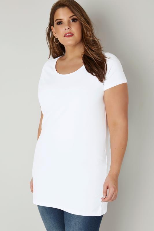 White Longline T-Shirt