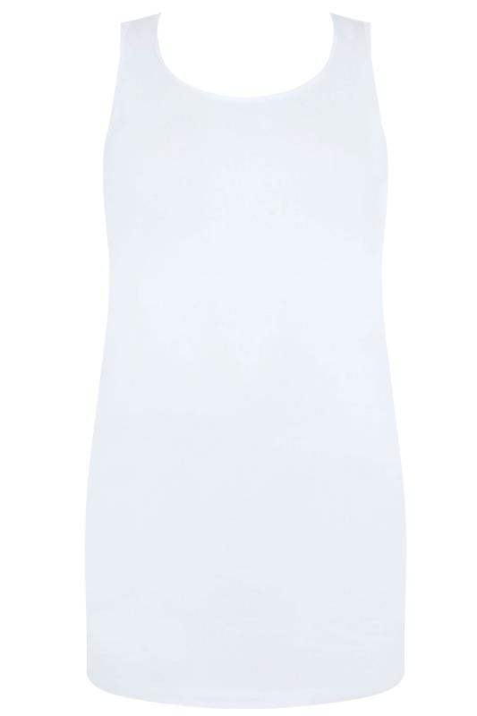 White Longline Vest