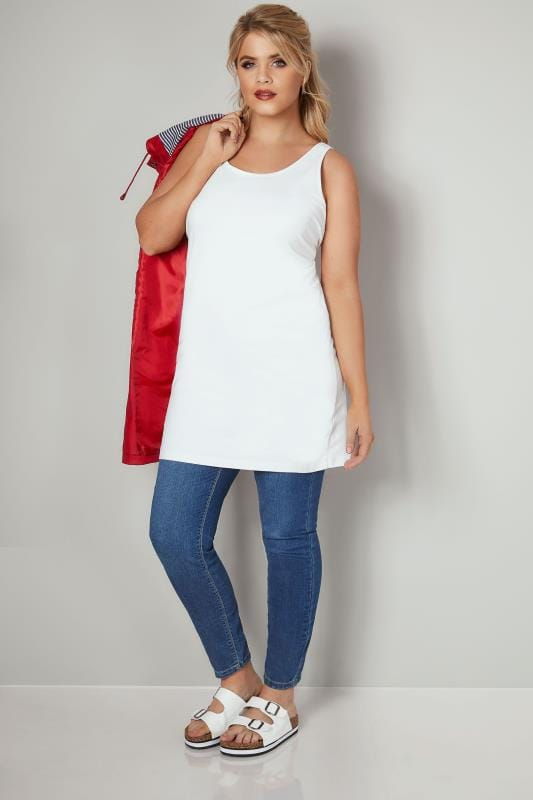 White Longline Vest Top