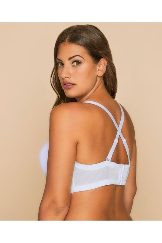 White Multiway Microfibre Lace Bra With Removable Straps