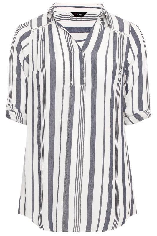 White Stripe Overhead Shirt