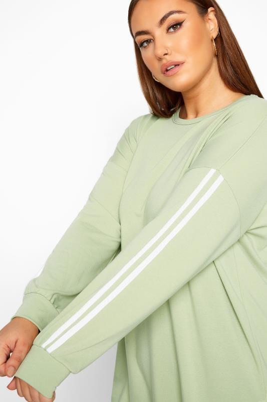 LIMITED COLLECTION Sage Green Side Stripe Sweatshirt