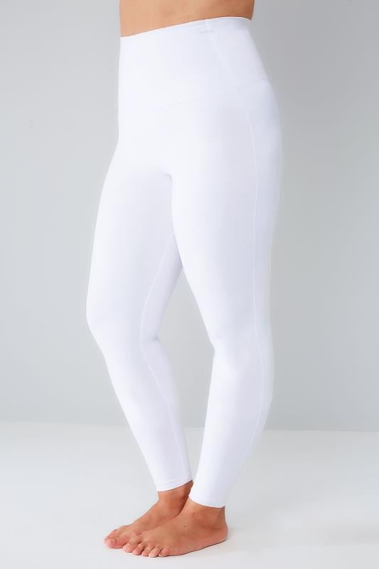 Plus Size Tummy Control Leggings White TUMMY CONTROL Soft Touch Leggings