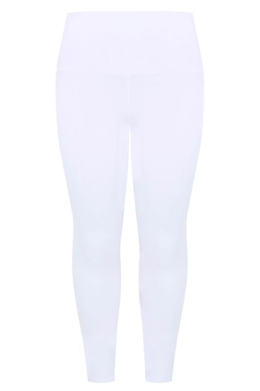 White TUMMY CONTROL Soft Touch Leggings
