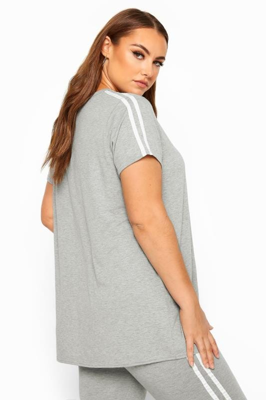 LIMITED COLLECTION Grey & White Tape Top