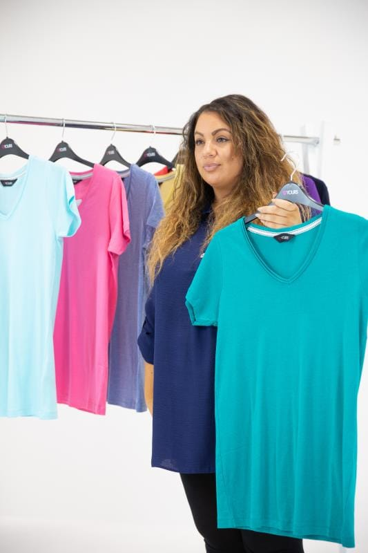 Plus Size Yellow V Neck T Shirt | Sizes 16 to 36 | Yours