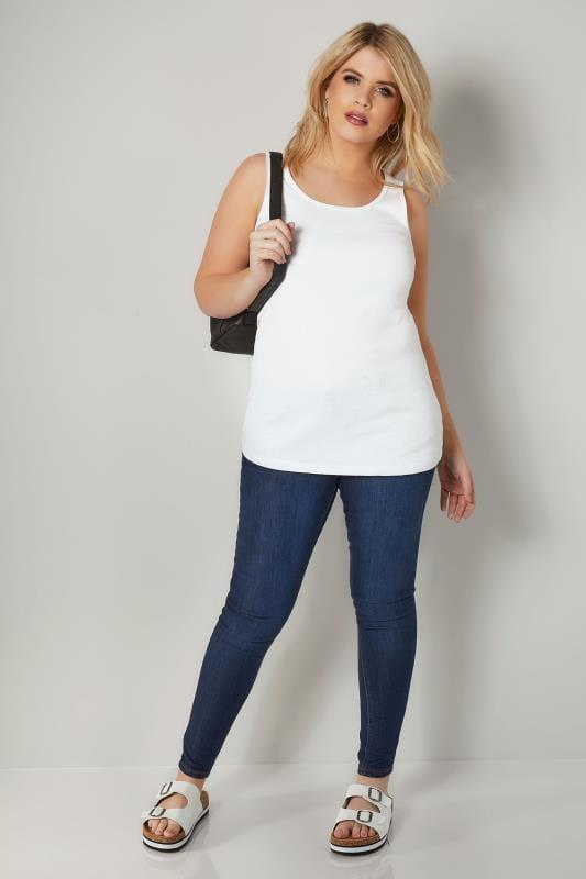 Basic Jerseytop - Weiß