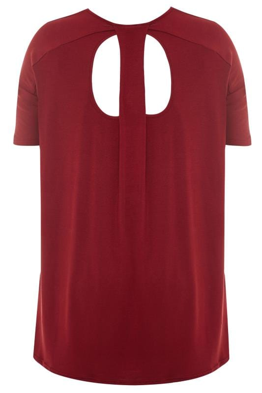 Wine Red Cut Out Longline Top