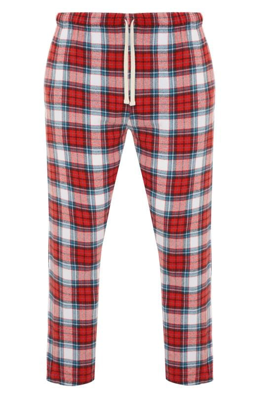 Nightwear BadRhino Red Woven Check Bottoms 201227